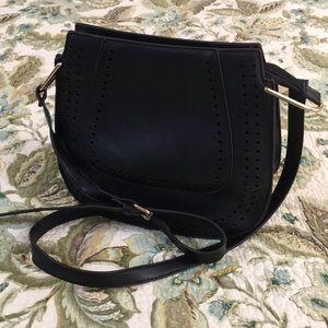 NWOT Franco Sarto Black Shoulder/Crossbody Bag